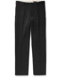 Alexander McQueen Black Slim Fit Wool Trousers