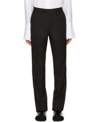 Black wool flared trousers medium 1151419