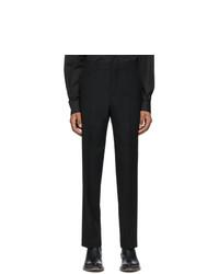 AMI Alexandre Mattiussi Black Wool Large Fit Trousers