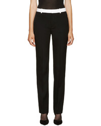 Givenchy Black Wool Straight Trousers