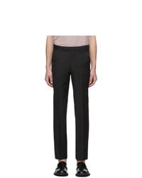 Ermenegildo Zegna Black Wool Suit Trousers