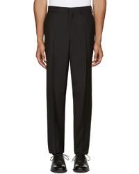Versace Black Wool Trousers