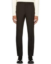 Maison Martin Margiela Black Wool Tuxedo Trousers