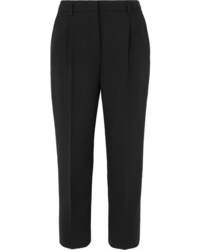 Prada Cropped Stretch Wool Straight Leg Pants
