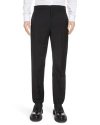 Givenchy Double Tuxedo Band Mohair Wool Dress Pants