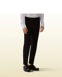 Gucci Stretch Grain De Poudre Wool Skinny Evening Pant