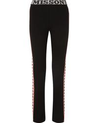 Missoni Intarsia Wool Blend Straight Leg Pants