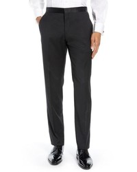 Ted Baker London Josh Wool Mohair Tuxedo Pants