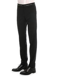 Givenchy Logo Waist Wool Trousers Black