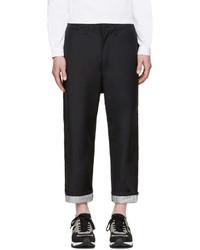 Junya Watanabe Navy Tropical Wool Trousers