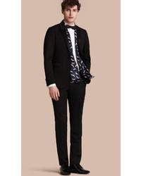 Burberry Slim Fit Wool Tuxedo Trousers