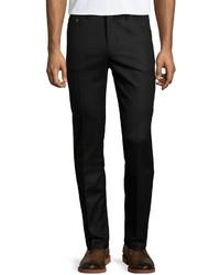 Luciano Barbera Soft Wool Trouser Dress Pants Black