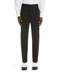 Alexander McQueen Tuxedo Stripe Wool Trousers