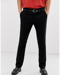 Pier One Wool Tailored Trouser In Black