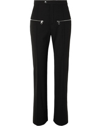 Chloé Zip Detailed Wool Blend Straight Leg Pants