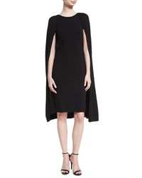 Ralph Lauren Collection Merino Wool Blend Cape Dress