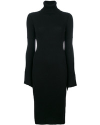 Dondup Fitted Bell Sleeve Dress