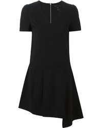 Marc by Marc Jacobs Asymmetric Detail V Neck Dress