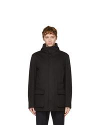 Loro Piana Black Cashmere Winter Voyager Jacket