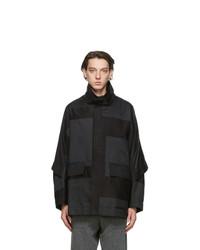 Issey Miyake Men Black Square Jacket