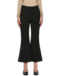 Stella McCartney Black Cropped Flared Trousers