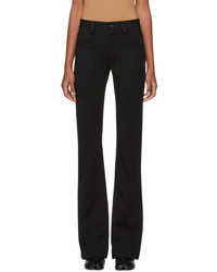Maison Margiela Black Kick Flare Trousers