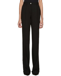 Miu Miu Black Wool Flared Trousers