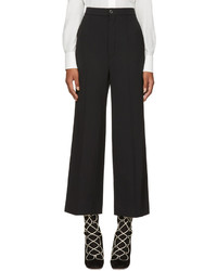 Chloé Chloe Black Classic Crop Flared Trousers