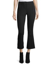 Helmut Lang Cropped Mid Rise Flared Wool Pants