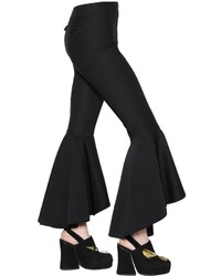Ellery Flared Stretch Wool Blend Pants
