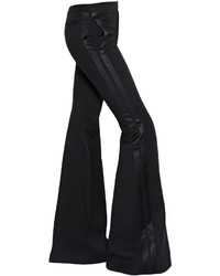 Alexander McQueen Flared Wool Silk Blend Tuxedo Pants