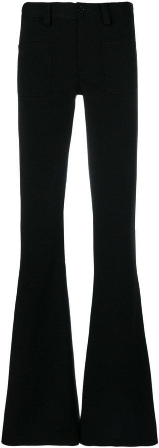 Maison Margiela High Rise Flared Trousers