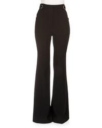 Proenza Schouler High Waist Flare Leg Suiting Pants Black