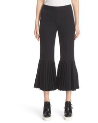 Stella McCartney Imilia Plisse Flare Crop Wool Pants