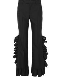 Gucci Ruffled Wool And Flared Pants