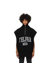 Telfar Black Wrap Sweater
