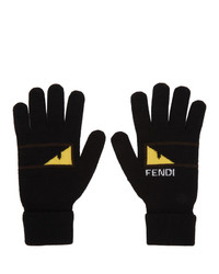 Fendi Black And Yellow Bag Bugs Mono Eye Gloves