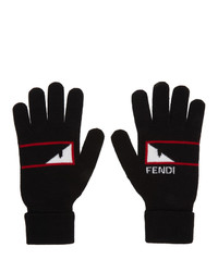 Fendi Black Bag Bugs Mono Eye Gloves