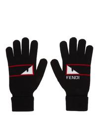 Fendi Black Bag Bugs Mono Eye Gloves