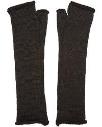 Isabel Benenato Black Fingerless Gloves