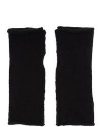 Isabel Benenato Black Wool And Yak Fingerless Gloves