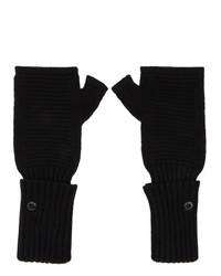 Stone Island Shadow Project Black Wool Fingerless Gloves