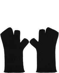 Attachment Black Wool Fingerless Gloves