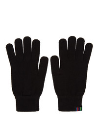 Ps By Paul Smith Black Wool Gloves