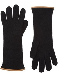 Barneys New York Double Knit Gloves