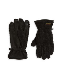 Polo Ralph Lauren Fleece Leather Touchscreen Gloves