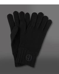 Giorgio Armani Wool Gloves With Logo