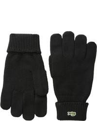 Lacoste Green Croc Wool Gloves