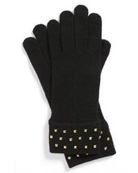 kate spade new york Stud Cuff Merino Wool Gloves Black One Size