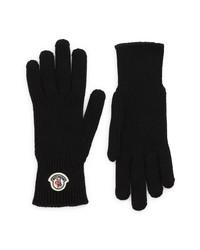 Moncler Logo Wool Knit Gloves